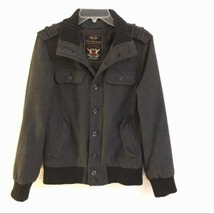 Zara Man Young collection wool bomber jacket M